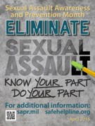 Eliminate Sexual Assault. Know Your Part. Do Your Part.