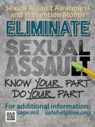 Eliminate Sexual Assault. Know Your Part. Do Your Part.